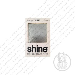 Papel   de Oro   The White 24KT   2 unidades   Shine