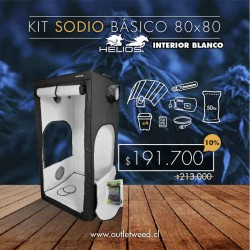Kit Indoor Helios | Sodio Básico | Interior Blanco | 80 x 80